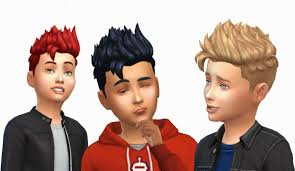 childs hairstyles sims 4 when i saw this hair i thought it should look good in boys so i