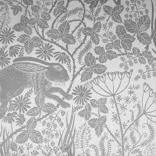 House Wallpaper Designs Handmade Luxury Wallpaper U0027hedgerow Hare U0027 Design Bedroom Boy