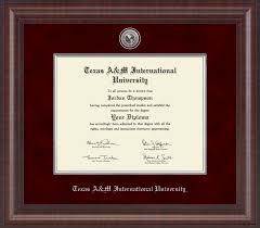 frames for diplomas a m international in laredo presidential silver
