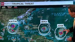 caribbean weather map since 2010 for 3 hurricanes at once cnn