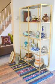 small kitchen use the 10 levels of the array bookcase to store