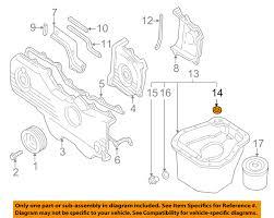 subaru engine diagram subaru 11122aa340 genuine oem factory original oil pan o ring ebay