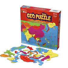 Asia Map Games by Amazon Com Geopuzzle Asia Educational Geography Jigsaw Puzzle