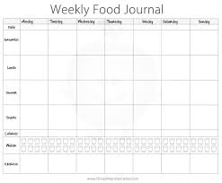 printable daily food intake journal importance of keeping a food diary free printout food diary