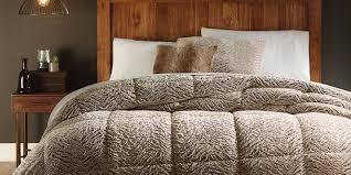 Faux Fur Duvet Cover Queen Cannon Faux Fur Comforter U2013 Brown Shop Your Way Online Shopping