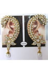 kaan earrings white drop kaan earrings