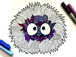 soot sprite pdf zentangle coloring page