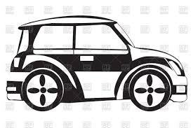 outline of car side view vector clipart image 91321 u2013 rfclipart