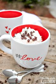 chocolate chip red velvet mug cake for two this silly u0027s kitchen