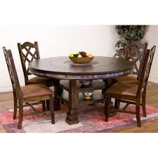 Round Dining Sets Santa Fe Wood Round Dining Table In Dark Chocolate Humble Abode