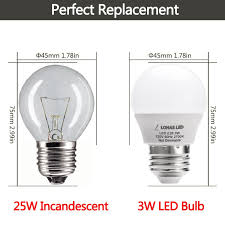 Type G Led Light Bulb by Lohas Led 3w 25 Watt Equivalent Light Bulbs Warm White 2700k Led