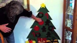 how to make a felt christmas tree for kids diy felt christmas