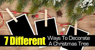 7 different ways to decorate a tree