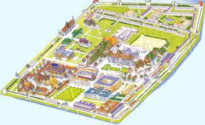 Bangkok Map Asisbiz 00 Grand Palace Tourist Brochure Map Bangkok Thailand 01