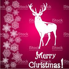 merry christmas card and snowflake decoration stock vector art