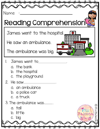 free reading comprehension is suitable for kindergarten students