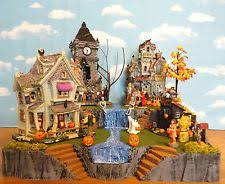 Spooky Village Halloween Decorations by 95 Best Halloween Village Images On Pinterest Halloween Village