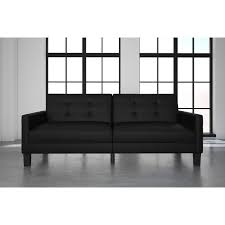 ebern designs anabelle faux leather convertible sofa u0026 reviews