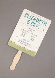 wedding ceremony fans rustic craftsman wildflower garden wedding ceremony program fans