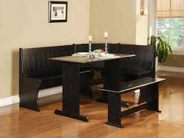 masculine breakfast nook 3 piece corner dining set black with nice