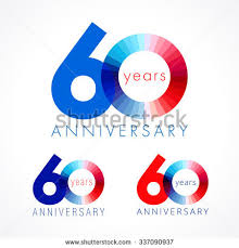 celebrate 60 birthday 60 years celebrating logotype colored stock vector 329806679