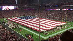 Cardinal Flag American Flag During National Anthem In Arizona Youtube