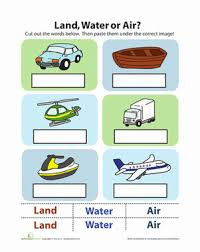 types of transportation worksheet education com