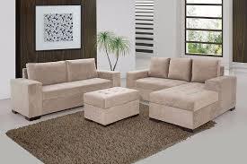 Sofá    Lugares Com Chaise Puff Ref  Móveis Goiânia - Puff sofa 2