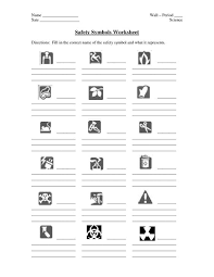 safety symbols worksheet worksheets
