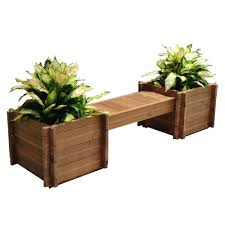 Planter Bench Seat Wood Bench With Planters Tl Planter Bench Set How To Build A Wood