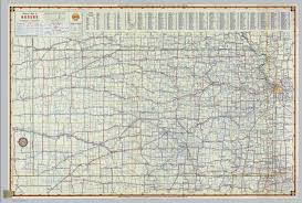 Map Of Wichita Ks Shell Highway Map Of Kansas David Rumsey Historical Map Collection