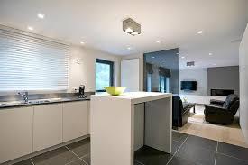 salon et cuisine ouverte cuisine ouverte sur le salon luminaires cuisine