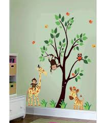 Monkey Nursery Wall Decals Forest Wall Decals Jungle Nursery Wall Stickers Boy Nursery Wall