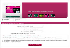 axis bank credit cards personal banking online