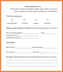 report form template 3 employee incident report form template progress report