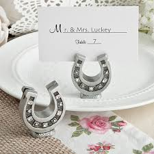 horseshoe wedding favors lucky shoe place card holder wedding favors unlimited