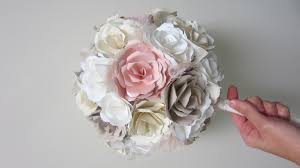paper flower bouquet diy wedding bouquet paper flowers from start to finish
