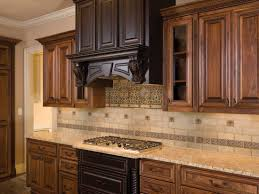 backsplash tile ideas for kitchens hood design color of lighter cabinets drawers under stove top