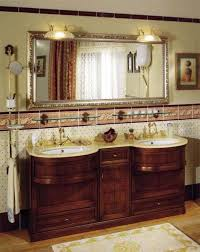 Farmhouse Style Bathroom Vanity by Antique Bathroom Vanity With Farmhouse Style Sink And Round Mirror