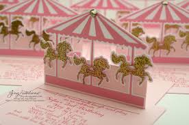 carousel baby shower birthday and baby shower invitations pink and gold carousel