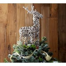Pottery Barn Tree Pottery Barn Glitter Twig Reindeer Tree Topper Polyvore