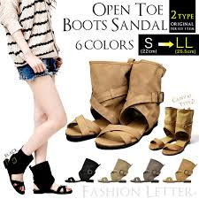 s leather boots buy sandals flat fashionletter rakuten global market sandals peep toe boots