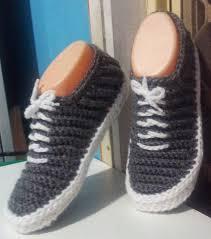 pattern crochet converse slippers free crochet pattern for tennis shoe slippers crochet and knit