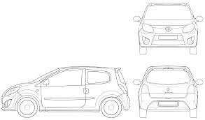 Blueprint Door Symbol by 2007 Renault Twingo Ii Hatchback Blueprints Free Outlines