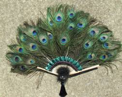 feather fans peacock feather fan etsy