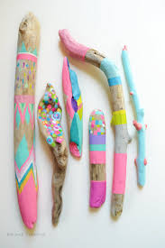 neon painted sticks 8 piece collection home decor props