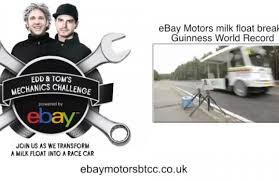 ebay motors uk ebay motors btcc uk milk float breaks world record video ebay