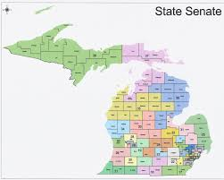 Map Of The State Of Michigan by The Western Right 2014 Michigan State Senate Elections