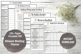 the ultimate wedding planner organizer wedding planner printable wedding planner wedding binder