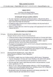 Objective In Resume Samples by Sample Of Bank Teller Resume With No Experience Http Www